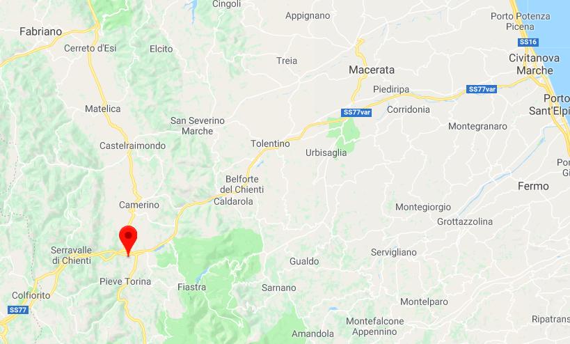Terremoto oggi nelle Marche scossa magnitudo 3.2 a Muccia