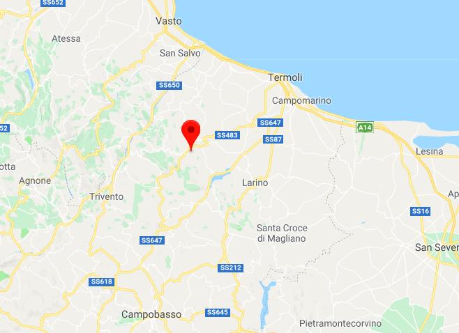 terremoto oggi campobasso 25 aprile 2018