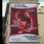 manifesto anti aborto a roma