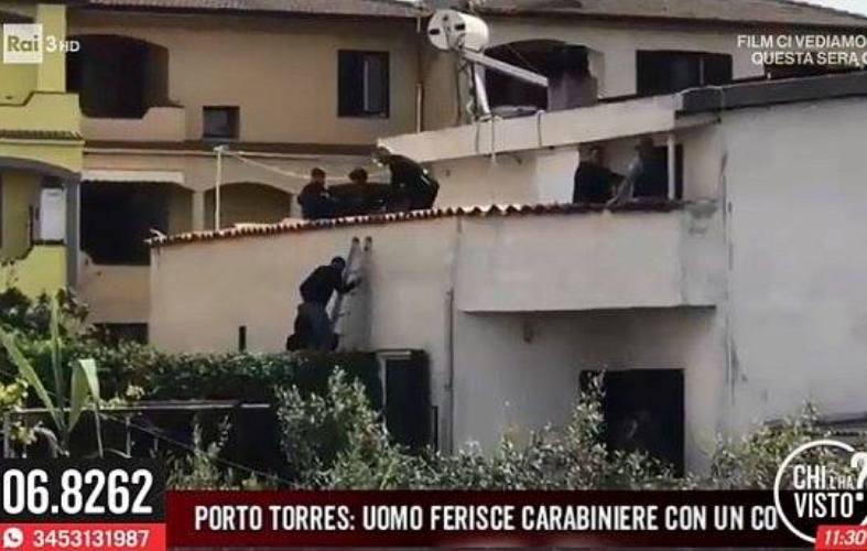 uomo barricato in casa a porto torres