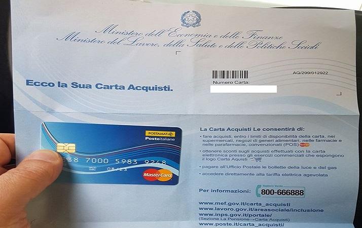 Carta acquisti 2018 requisiti isee come richiederla e for Requisiti carta di soggiorno 2017