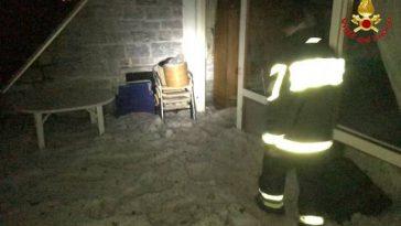 grandine record varese casa invasa dal ghiaccio germignaga