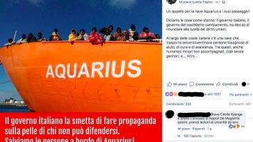 Aquarius, Cecile Kyenge: «Dov'era Salvini quando abbiamo votato al Parlamento Europeo le regole per cambiare Dublino?»