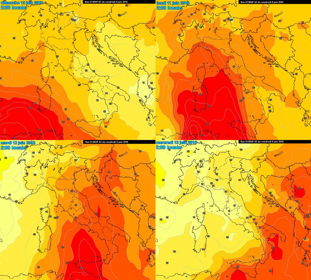 meteo prossimi giorni dove farà più caldo
