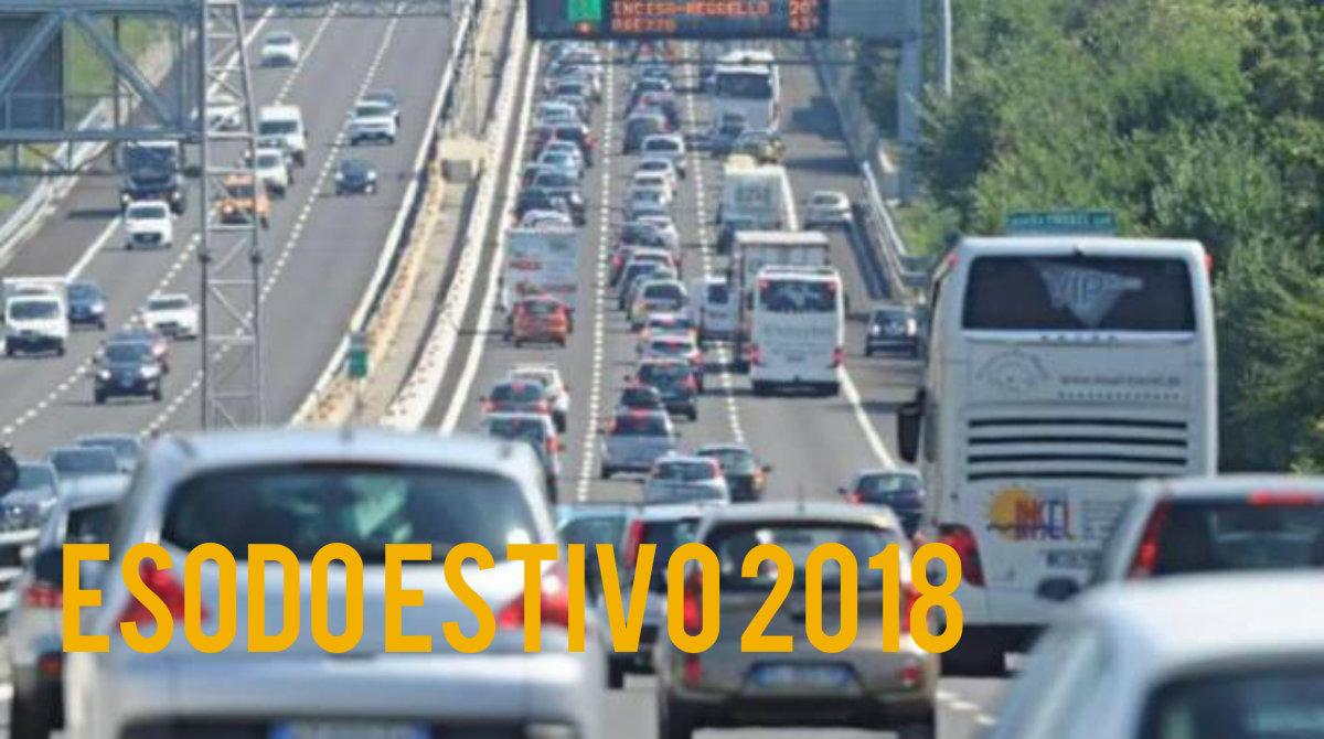 Previsioni traffico estate 2018 autostrade i giorni da for Traffico autostrade in tempo reale