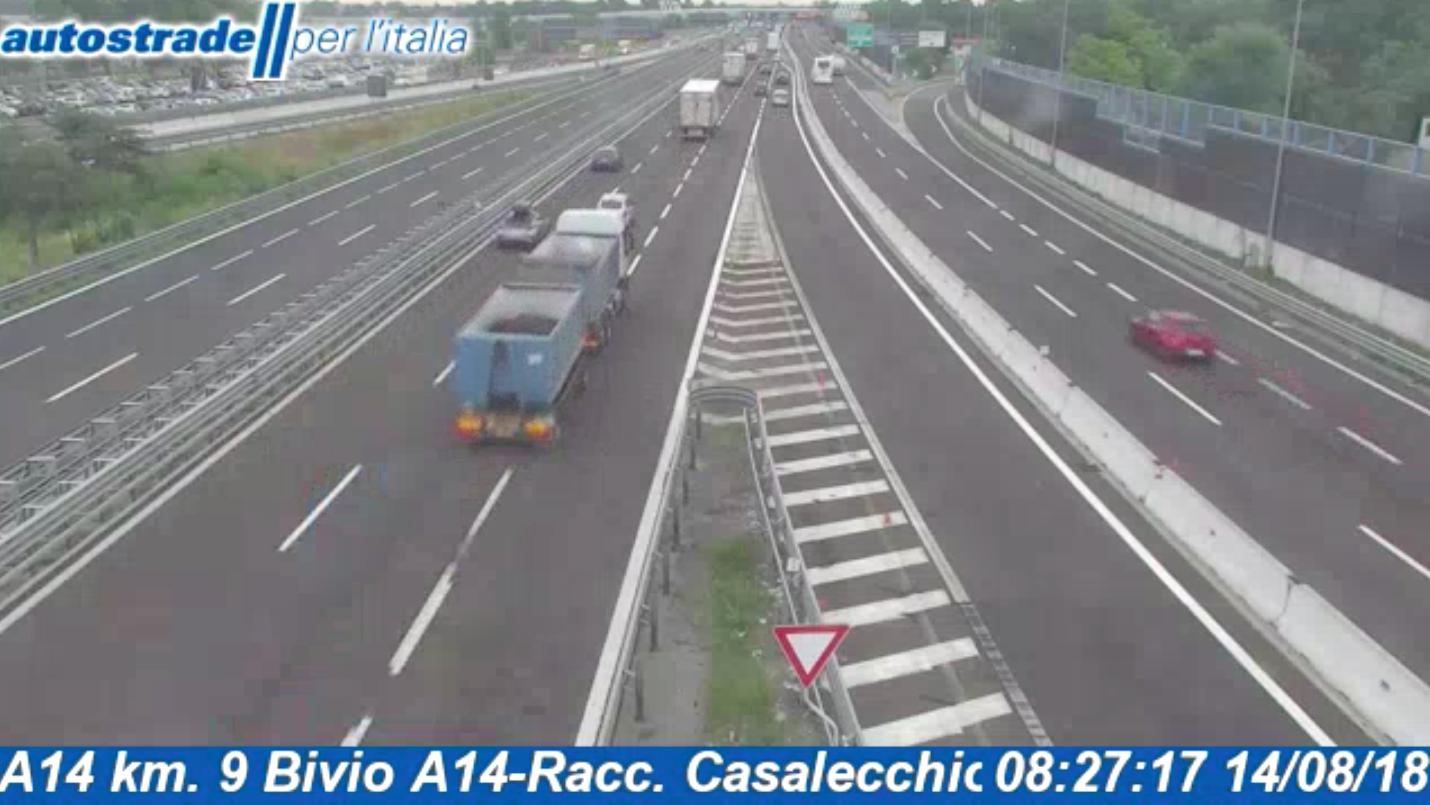 Autostrade in tempo reale: traffico, incidenti, chiusure oggi martedì 14 agosto 2018