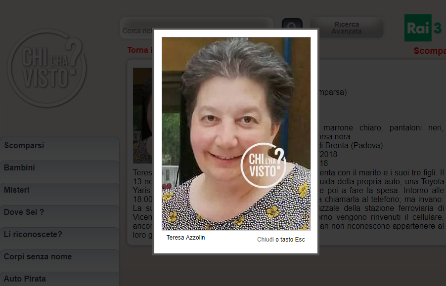 Madre di tre figli scomparsa in Veneto  Teresa Azzolin a130af5da3d6