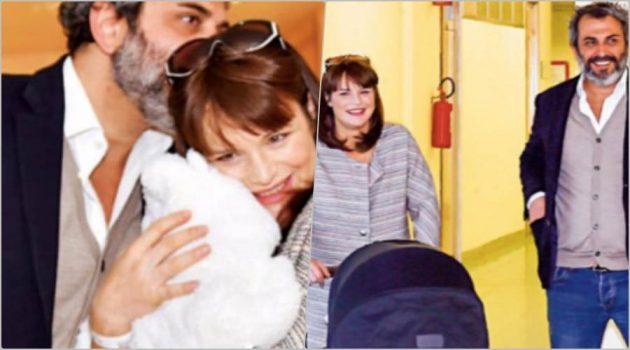 Lorena Bianchetti mamma: eccola mentre torna a casa con la figlia Estelle e il marito