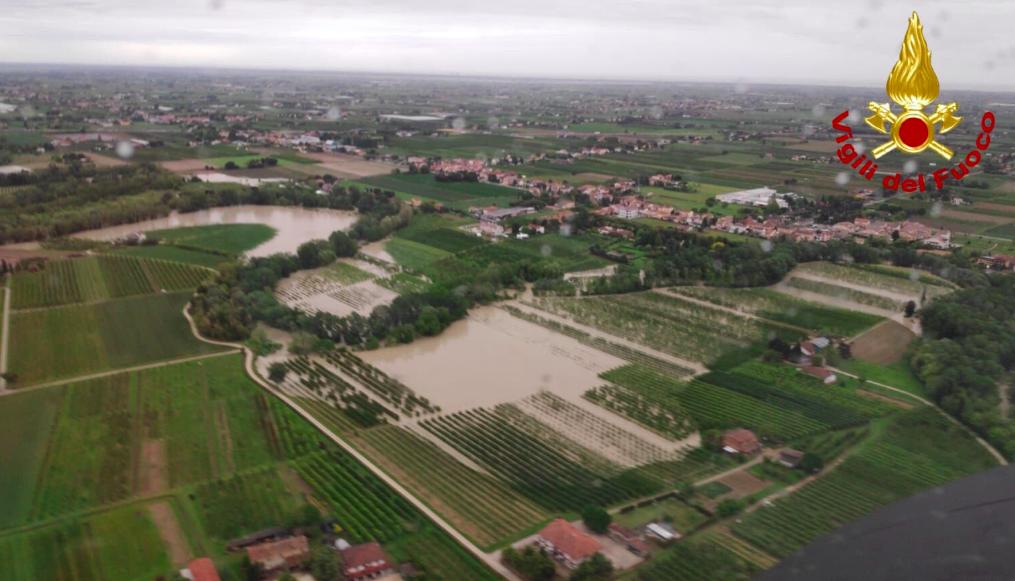 Maltempo in Romagna savio esondato cesena