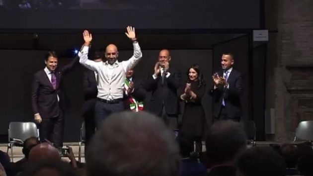 Conte, Di Maio, Zingaretti, Speranzai in Umbria