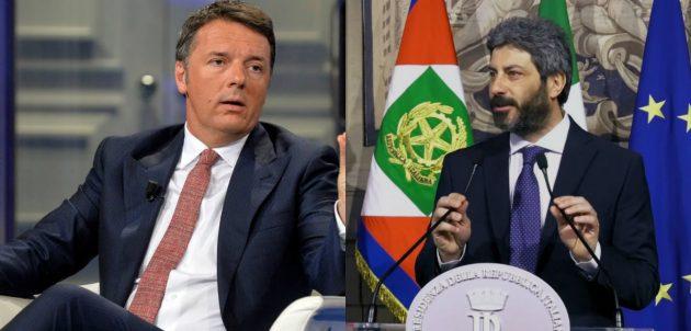 Governo news Matteo Renzi e Roberto Fico