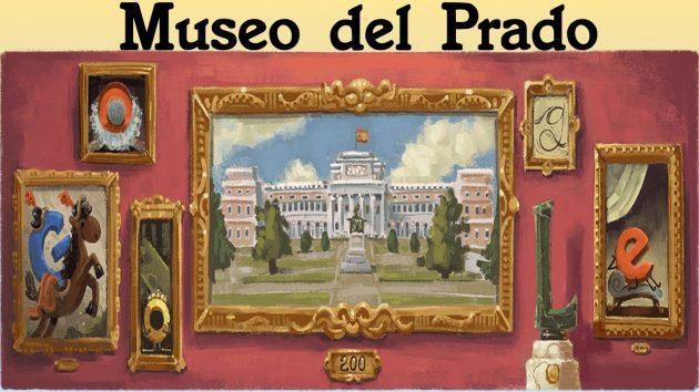 Museo del Prado aperto 200 anni fa, Google gli dedica il doodle