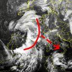 meteo weekend ciclone mediterraneo
