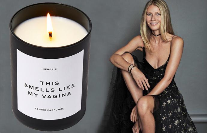 Gwyneth Paltrow candela che profuma di vagina