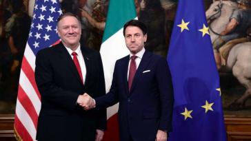 Leonardo-Finmccanica Giuseppe Conte e MIke POmpeo