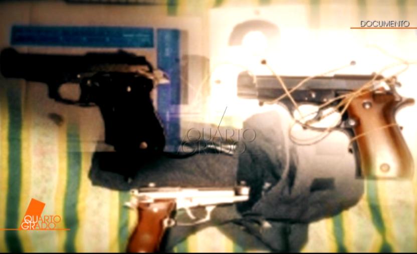 Le pistole di Antonio Ciontoli (Immagine da Quarto Grado)