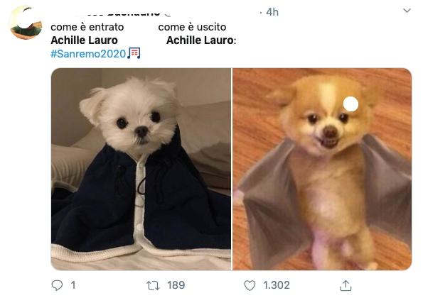 Sanremo 2020 meme
