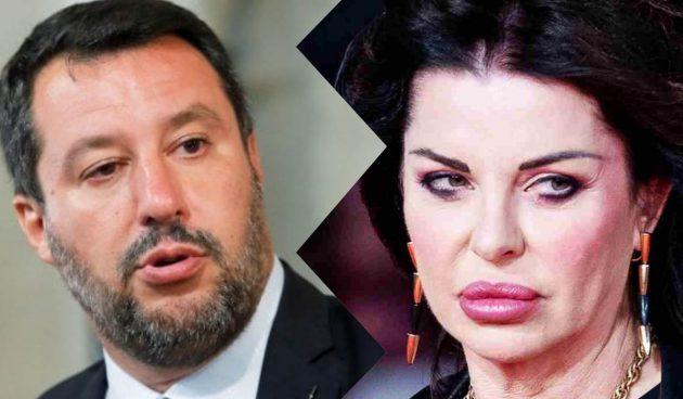 Alba Parietti, volo con Matteo Salvini 'nervoso': «Può stare