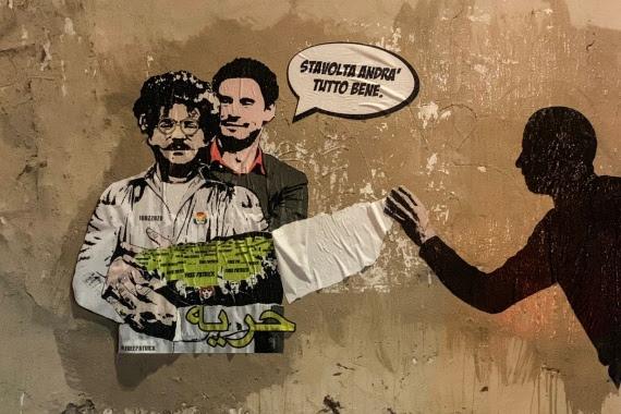 Giulio Regeni e Patrick Zaky: la street artista Laika riposi