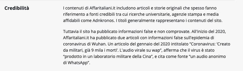 newsguard recensione affariitaliani.it