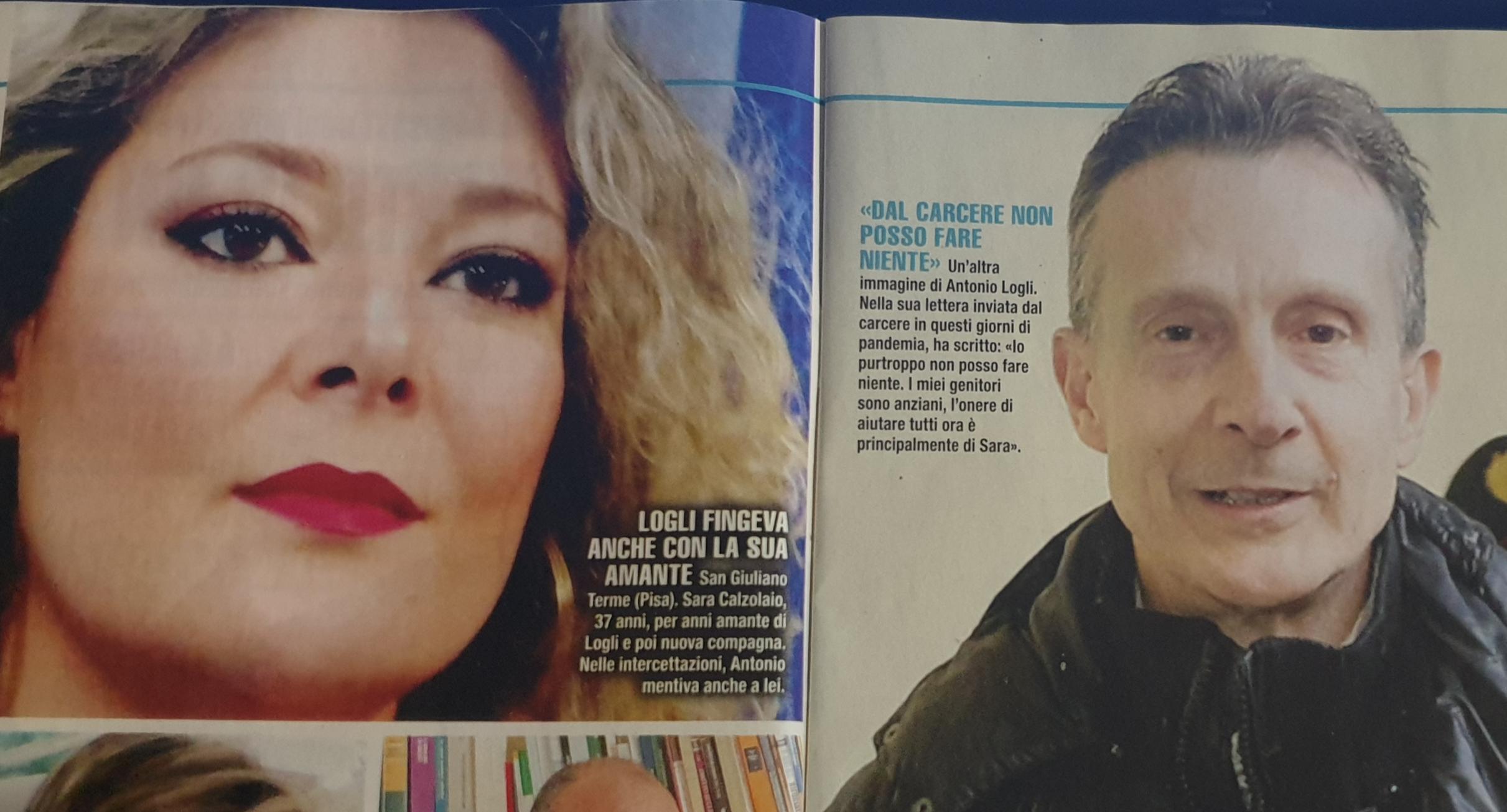 Antonio Logli e Sara Calzolaio Foto settimanale Giallo