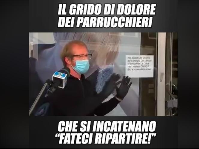 italia fase 2 salvini protesta parrucchieri