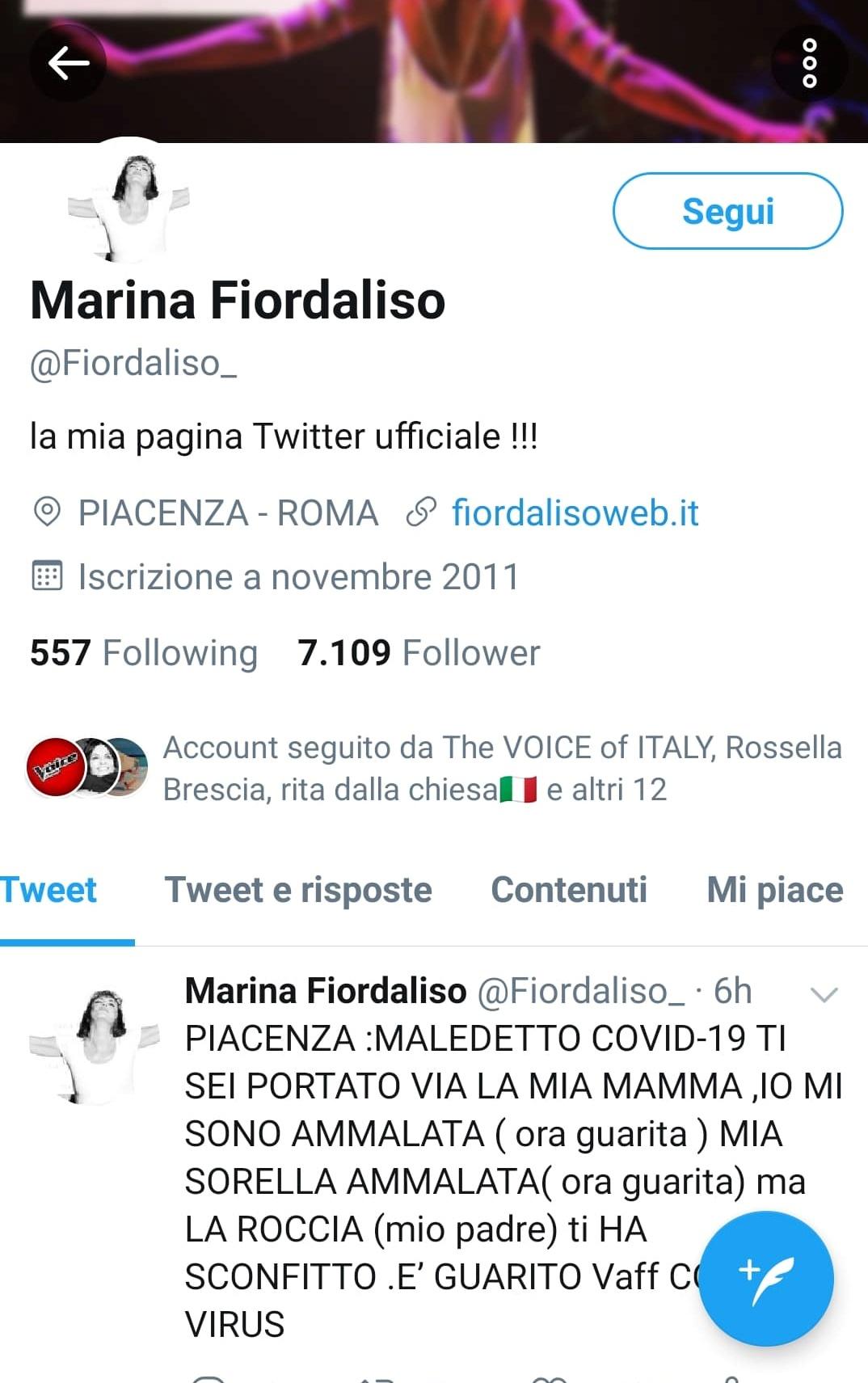 Marina Fiordaliso morta madre