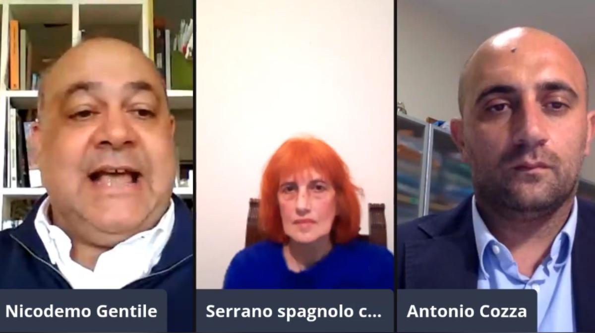 Nicodemo Gentile, Concetta Serrano e Antonio Cozza