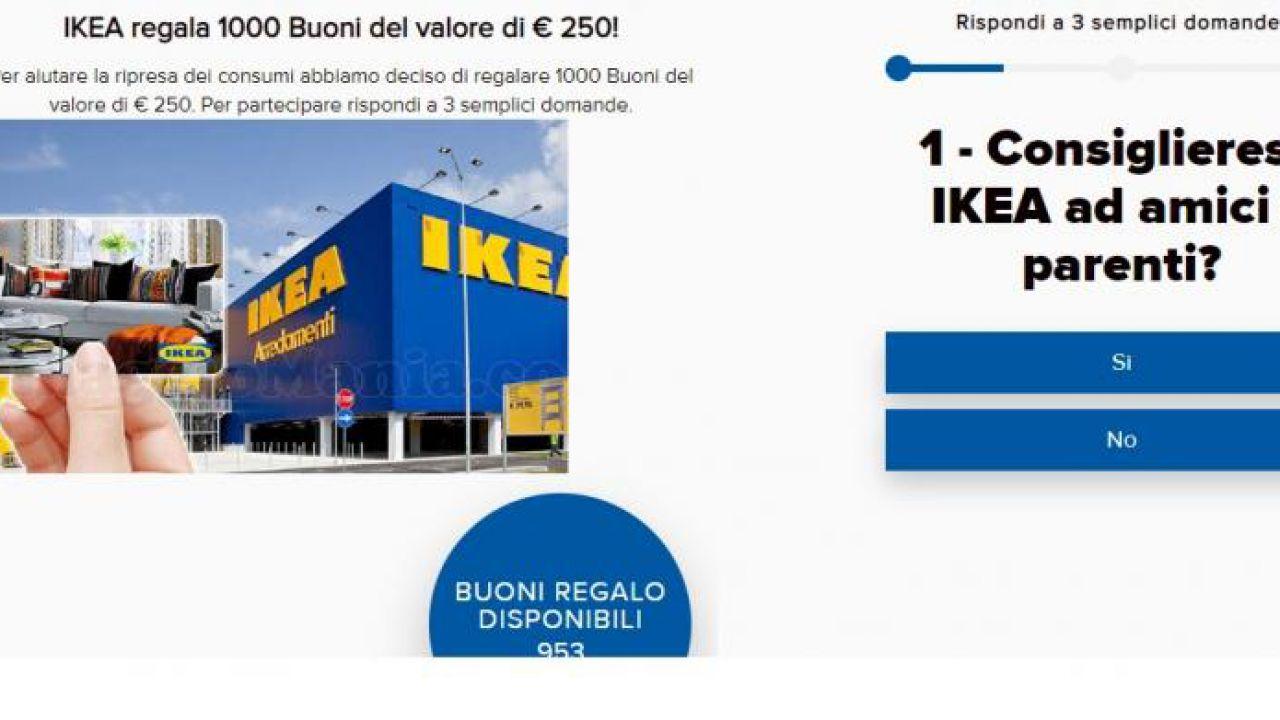 Buono regalo Ikea 250 euro messaggio Whatsapp è truffa