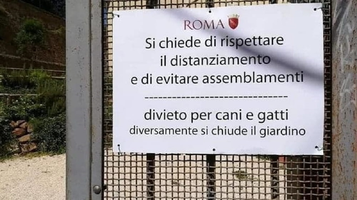 coronavirus roma cartello