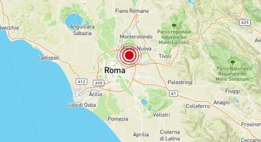 terremoto roma oggi