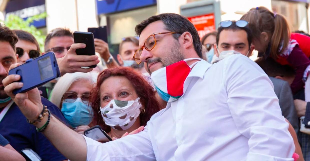 ultimi sondaggi elettorali fiducia leader politici salvini
