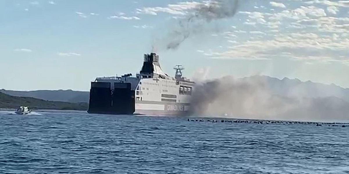 olbia incendio traghetto