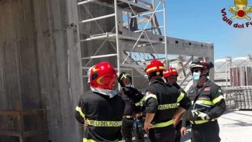 roma incidente cantiere