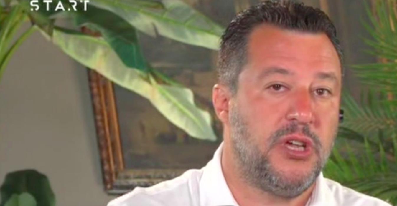 """Matteo Salvini intervista a Sky: """"Governo complice dei trafficanti di esseri umani"""""""