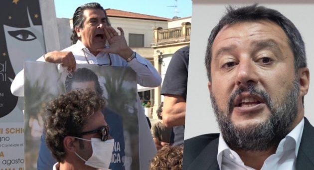 Viareggio, Salvini contestato da Alberto Veronesi: «Non si scherza con l'antifascismo»