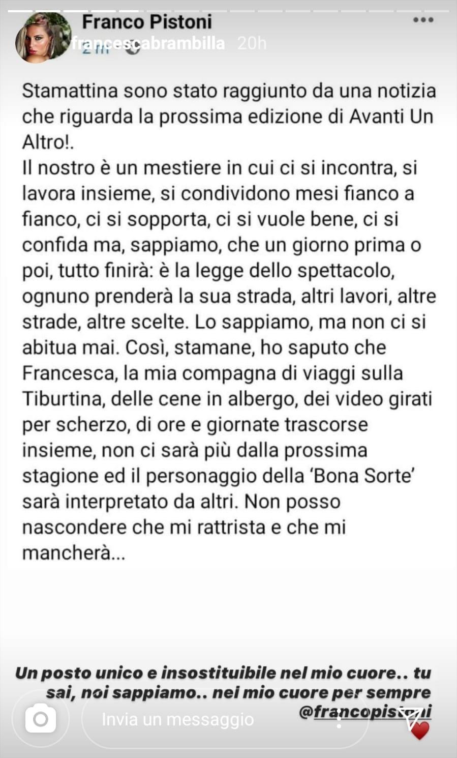 Francesca Brambilla storia
