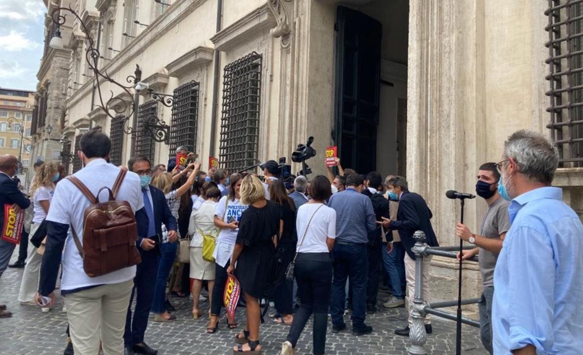 Flash mob Lega Palazzo Chigi