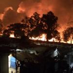 grecia incendio lesbo campo migranti