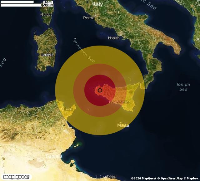 terremoto trapani