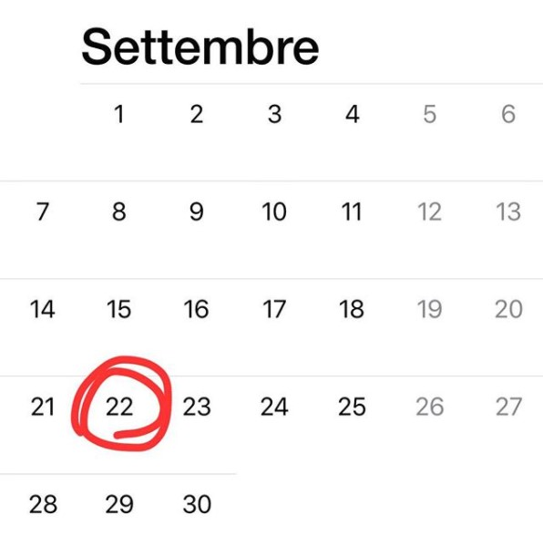 ultimo 22 settembre