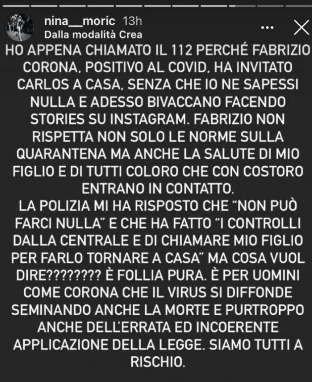 Fabrizio corona Nina Moric