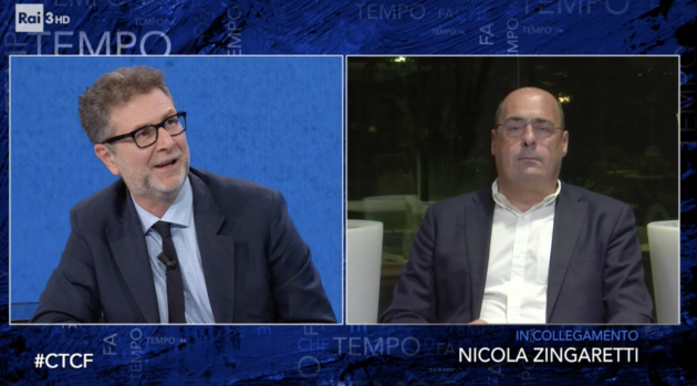 Nicola Zingaretti a Che tempo che fa