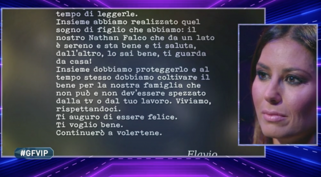 Elisabetta Gregoraci lettera Briatore