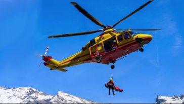 Cervinia elicottero precipitato