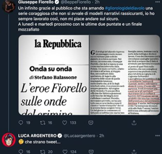 Beppe Fiorello luca argentero
