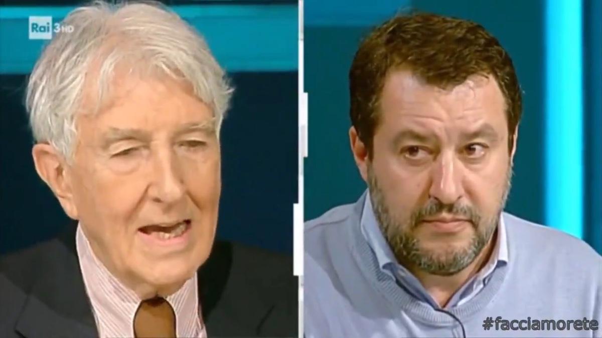 Corrado Augias e Matteo Salvini