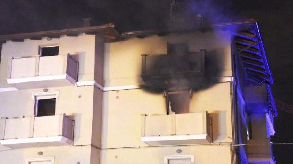 rimini incendio residence