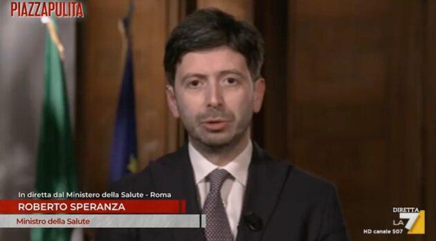 Roberto Speranza piazza pulita