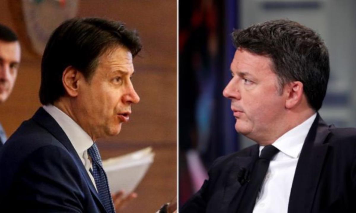 Matteo Renzi e Conte